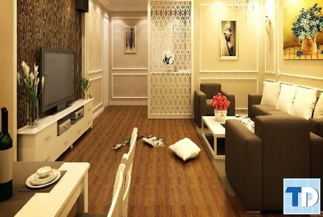 Thiết kế nội thất tân cổ điển căn hộ chung cư Home City