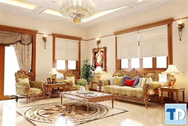 Thiết kế nội thất tân cổ điển chung cưGold Silk Complex