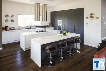 Các mẫu tủ bếp gỗ bền đẹp giá rẻ cho mọi nhà