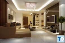 Thiết kế nội thất chung cư Golden Palace nhỏ đẹp tiện nghi - nhà chị Minh