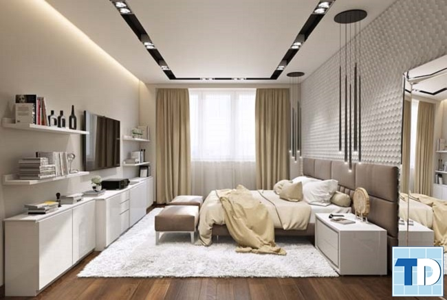 Không gian phòng ngủ master lãng mạn
