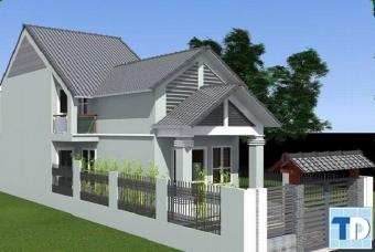 Mẫu thiết kế nhà cấp 4 đẹp hiện đại 2017 - nhà anh Mạnh Quảng Ninh