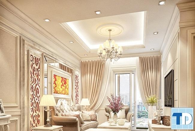 Thiết kế nội thất chung cư Hapulico tân cổ điển - nhà chị Hoài