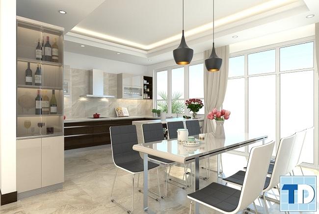 Phòng bếp - ăn tiện nghi hiện đại