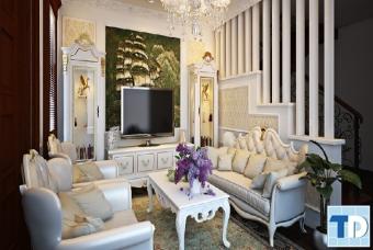 Thiết kế nội thất chung cư Ecopark tân cổ điển đẳng cấp - nhà chị Minh Anh