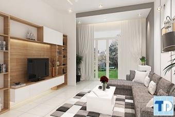 Thiết kế nội thất chung cư Mulberry Lane hiện đại trang nhã - nhà cô Quỳnh