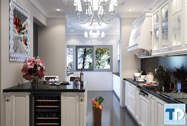 Phòng bếp tiện nghi với nội thất đạt chuẩn quốc tế