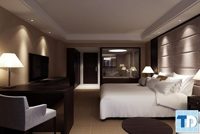 Phòng ngủ sang trọng lãng mạn dành cho các cặp vợ chồng