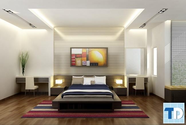 Phòng ngủ con traitrang nhã thanh lịch