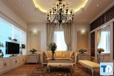 Thiết kế nội thất Goldmark City tân cổ điển - nhà chị Giang