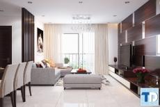 Thiết kế nội thất căn hộ Madarin Garden hiện đại trẻ trung - nhà chị Sang