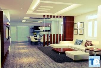 Thiết kế nội thất căn hộ Capital Garden 102 Trường Chinh - nhà chú Long
