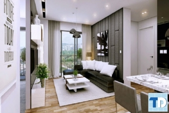 Thiết kế nội thất căn hộ FLC 18 Phạm Hùng - nhà chị Vân Anh