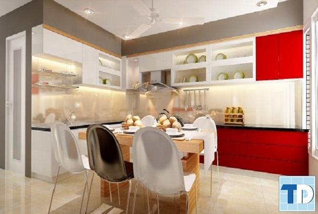 Căn bếp tiện nghi hiện đại
