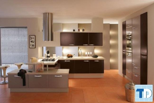 Mẫu thiết kế phòng bếp đơn giản mà tiện nghi