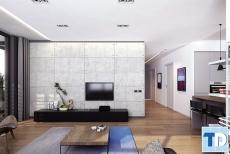 Thiết kế nội thất căn hộ Times Tower trẻ trung năng động - nhà chị Ly
