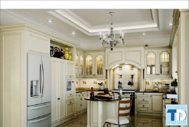 Phòng bếp tân cổ điển tiện nghi