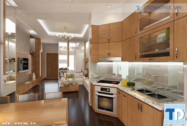 Phòng bếp sang trọng tiện nghi
